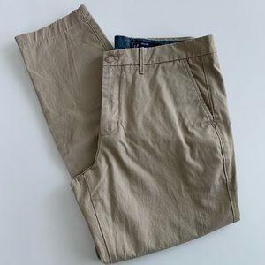 GAP tan khaki slim pants 36x30